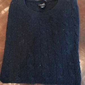 J crew cashmere cable knit sweater